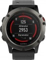 Garmin - fēnix® 5X Sapphire Smartwatch 51mm Fiber-Reinforced Polymer - Slate Gray with Black Band