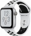 Apple - Apple Watch Nike+ Series 4 (GPS), 40mm Silver Aluminum Case with Pure Platinum/Black Nike Sport Band - Silver Aluminum