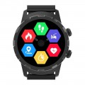 3Plus - Cruz Hybrid Smartwatch 44mm Stainless Steel - Black