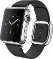 Apple - Apple Watch (first-generation) 38mm Stainless Steel Case - Black Modern Buckle – Small