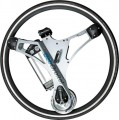 GeoOrbital - 26in Powered Bicycle Wheel - Boston Silver
