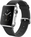 Apple - Apple Watch (first-generation) 38mm Stainless Steel Case - Black Classic Buckle