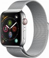 Apple - Apple Watch Series 4 (GPS + Cellular), 44mm Stainless Steel Case with Milanese Loop - Stainless Steel