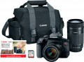 Canon - EOS Rebel T7i DSLR Camera with 18-55mm and 55-250mm Lenses - Black