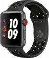 Apple - Apple Watch Nike+ Series 3 (GPS + Cellular), 42mm Space Gray Aluminum Case with Anthracite/Black Nike Sport Band - Space Gray Aluminum