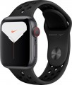 Apple - Apple Watch Nike Series 5 (GPS + Cellular) 40mm Space Gray Aluminum Case with Anthracite/Black Nike Sport Band - Space Gray Aluminum