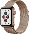 Apple - Apple Watch Series 5 (GPS + Cellular) 40mm Gold Stainless Steel Case with Gold Milanese Loop - Gold Stainless Steel