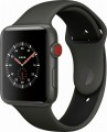 Apple Watch Edition (GPS + Cellular), 42mm Gray Ceramic Case with Gray/Black Sport Band - Gray Ceramic